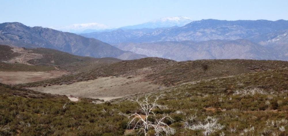 San Gorgonio Mountain on the left, and Mt. San Jacinto on the right