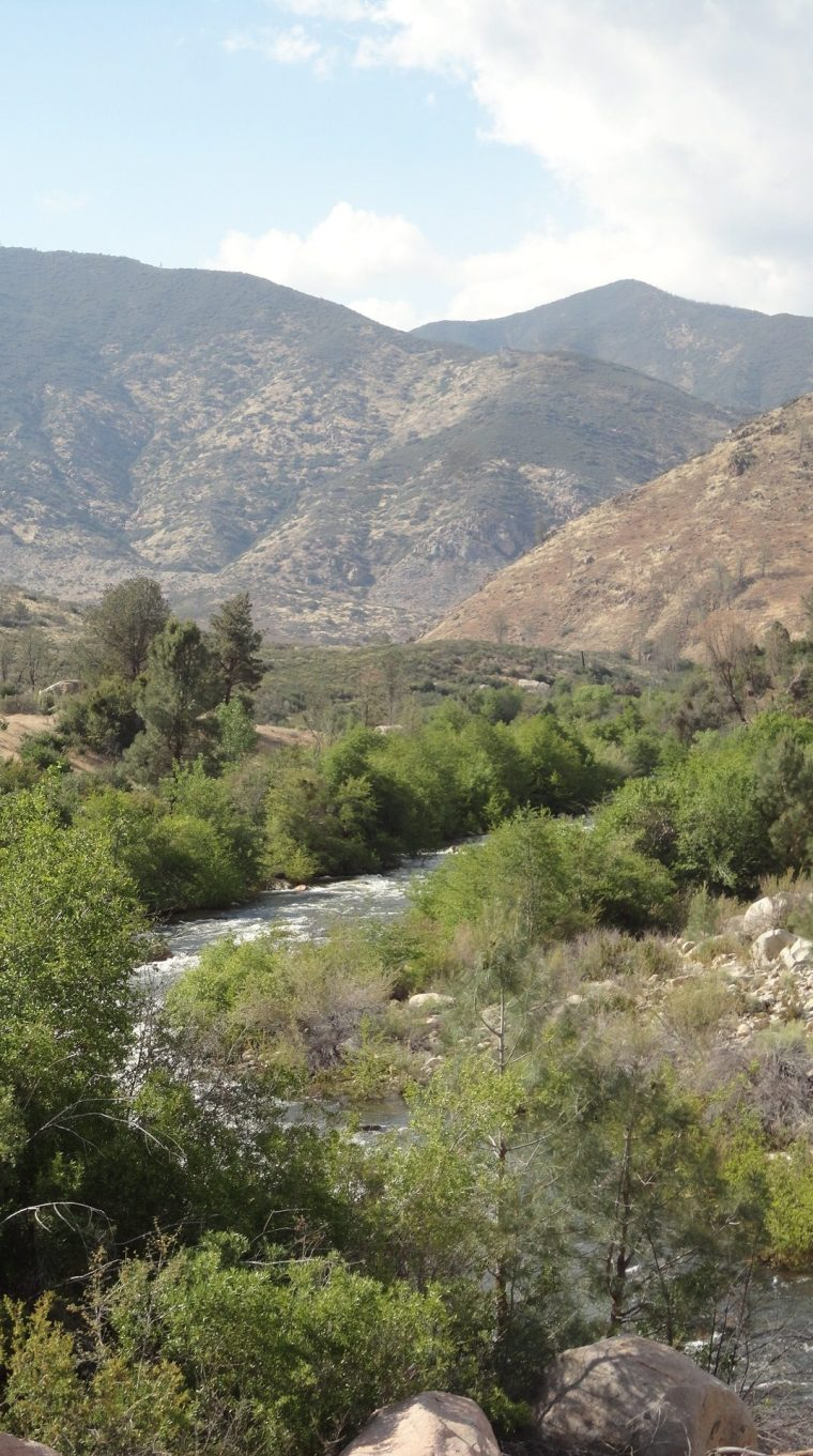 Whiskey Flat Trail, north end, Kern River below