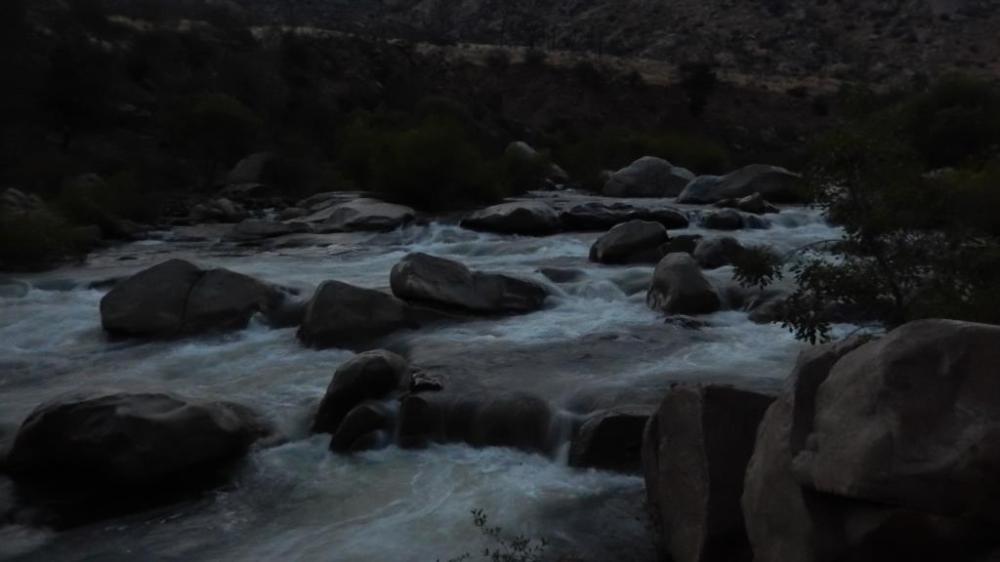 Dusk.  Kern River.